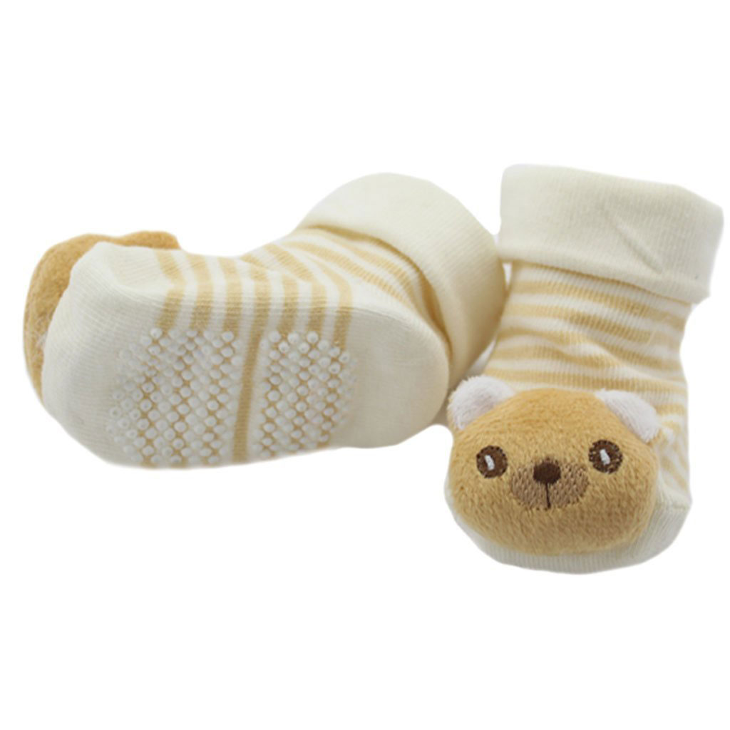 New Cartoon Rabbit Newborn Baby Non Slip Socks Slipper