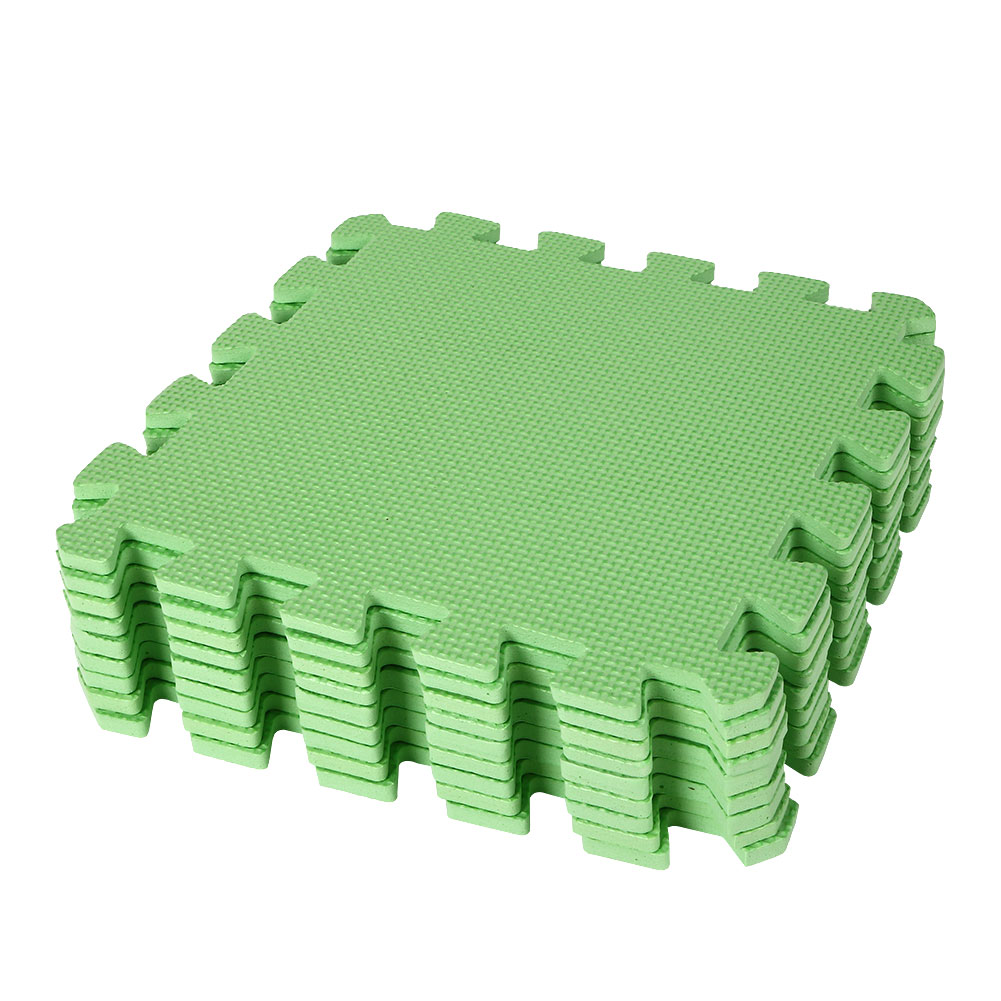 9pcs eco soft foam tile interlocking eva floor kids play puzzle mat gym garage ebay. Black Bedroom Furniture Sets. Home Design Ideas