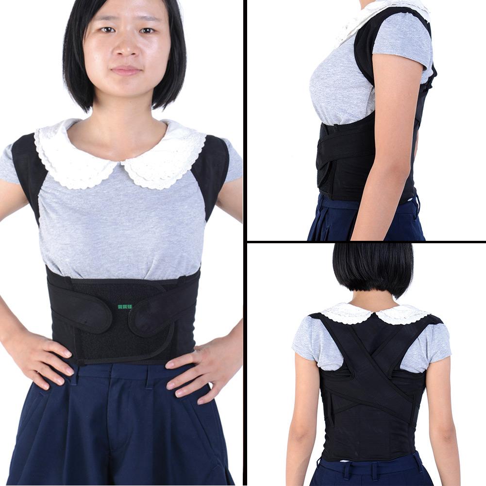 Body Posture Corrector Shoulder Support Brace Straightenout Vest Belt Black New