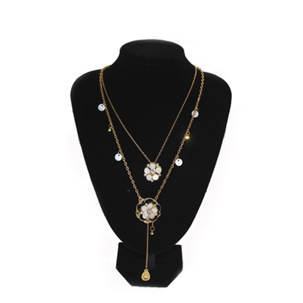 Quality Black Velvet Necklace Jewelry Pendant Display Bust