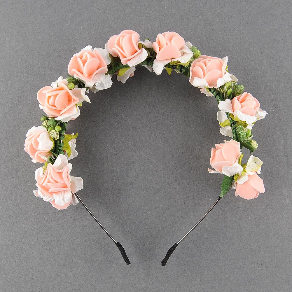 Flower Garland: BOHO Flower Garland Floral Bridal Headband Hair Band