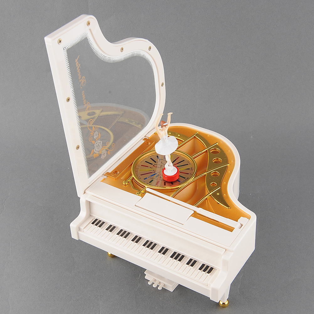 lovely piano ballet dancer dancing girl music musical box toy