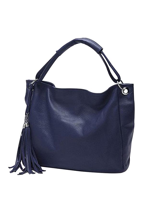 New Lady Women Hobo Large Leather Shoulder Bag Purse Tote Tassel Handbag