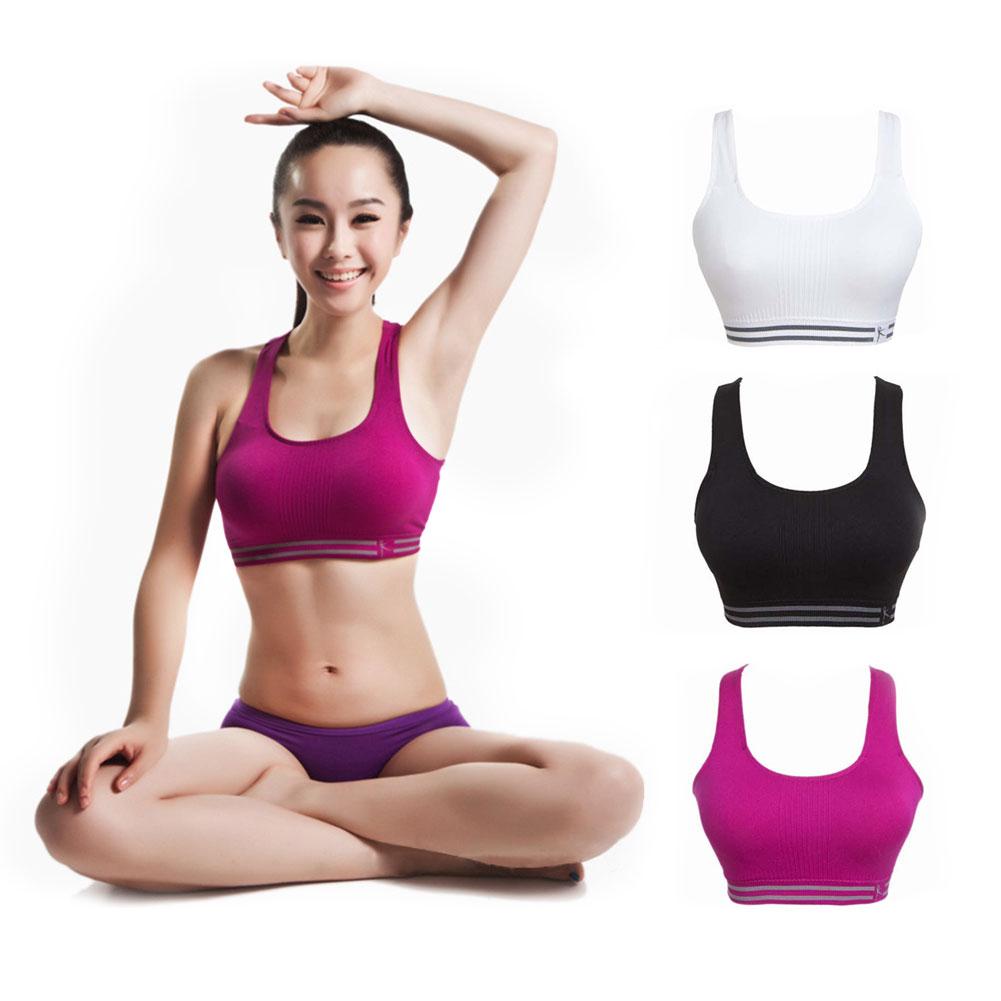 Comfort Sexy Womens Workout Tank Stretch Seamless Racerback Sports Bra
