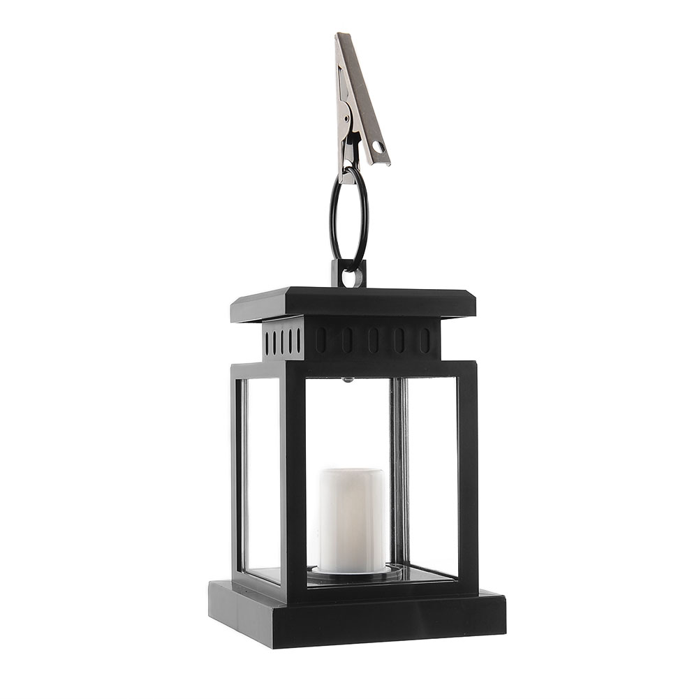 Solar Wall Lantern Lights : Outdoor Candle Lantern Solar Powered LED Garden Wall Umbrella Lantern Light eBay