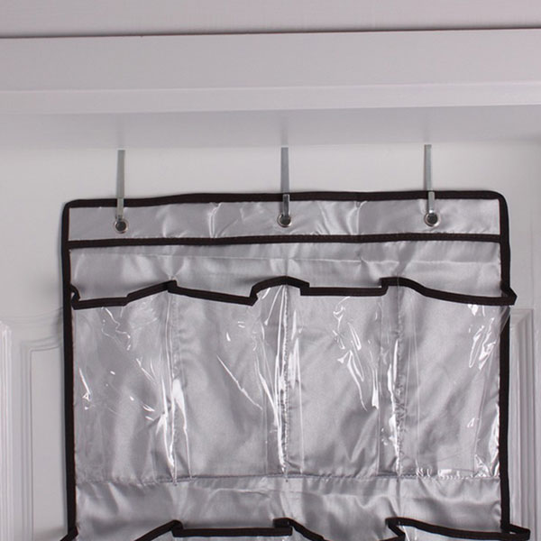 clear vinyl over the door 22pockets shoe clothes sock hanger tidy organizer bag ebay. Black Bedroom Furniture Sets. Home Design Ideas