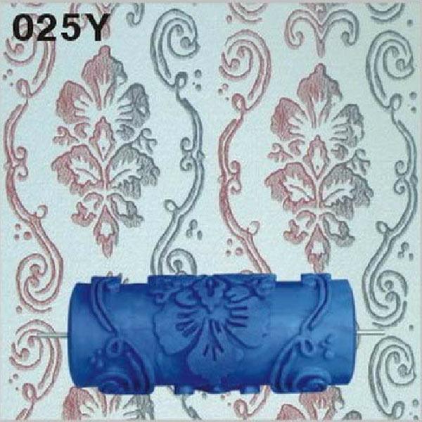 15cm Empaistic Flower Blue Rubber Painting Roller Paint Wall Decor DIY