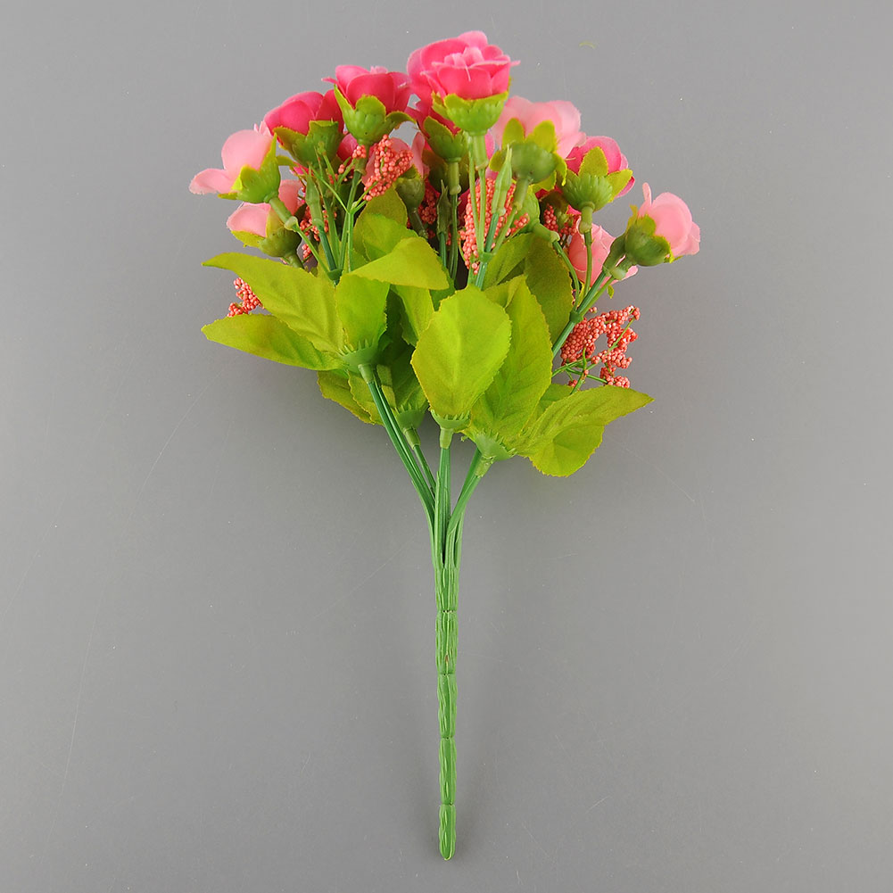 21pcs artificial flower fake silk wedding party home for Artificial flowers decoration for home