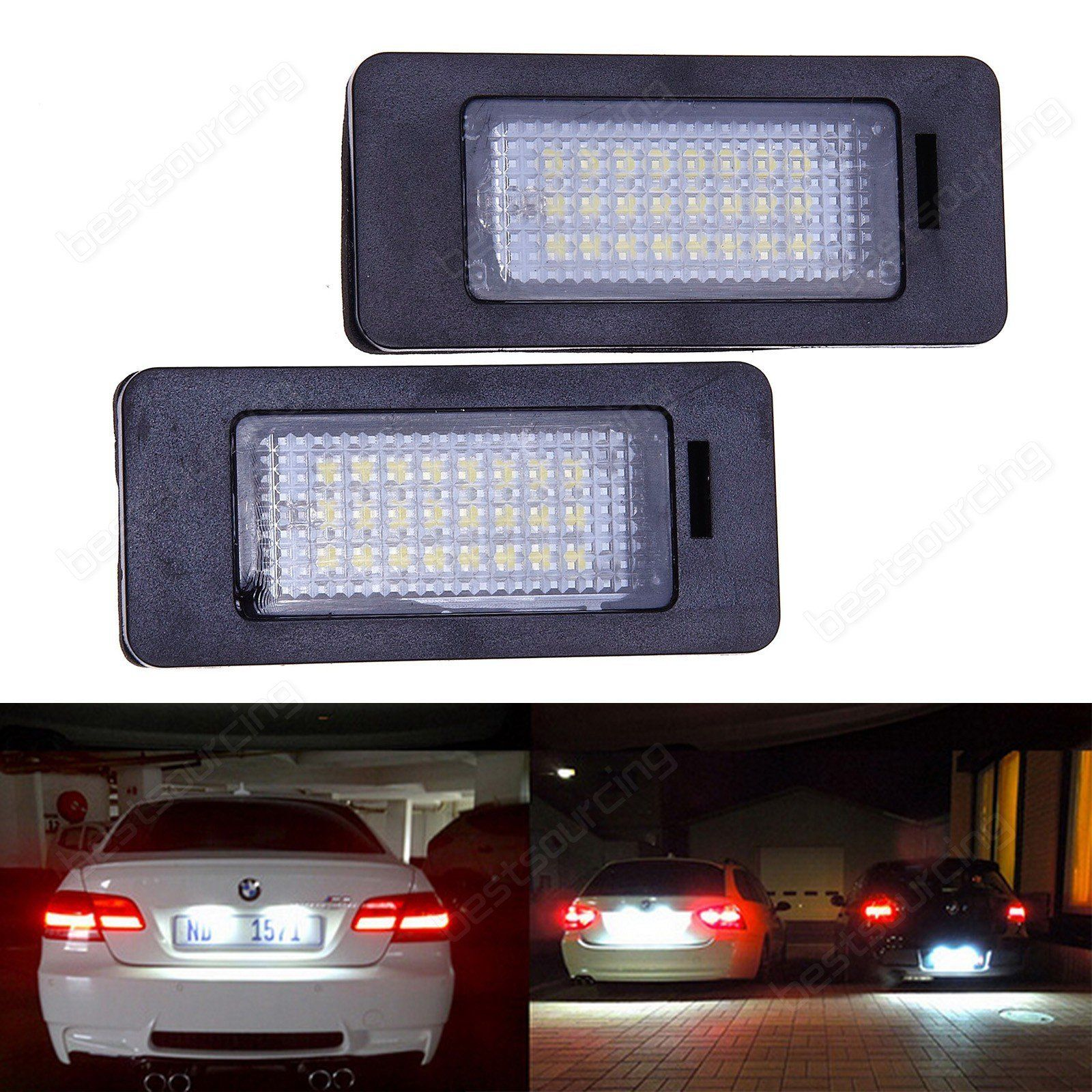 2x Led License Plate White Light Lamp Bulb Car Replacement