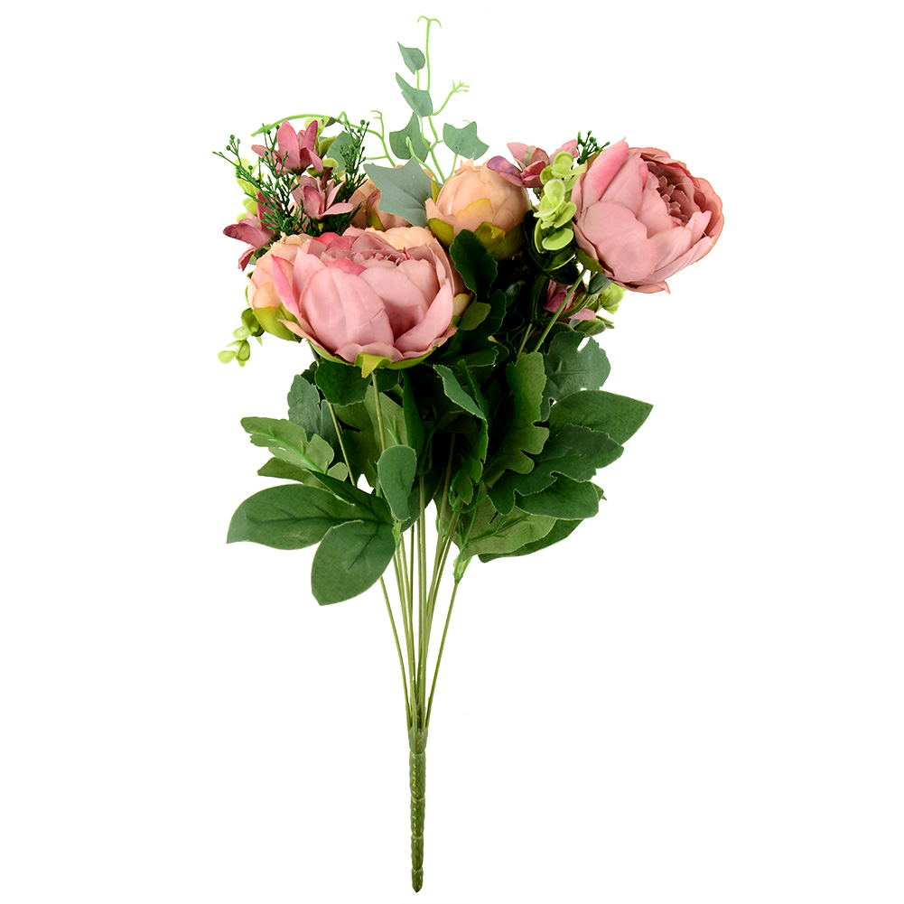 Artificial peony silk flowers bridal bouquet hydrangea for Artificial flower for decoration
