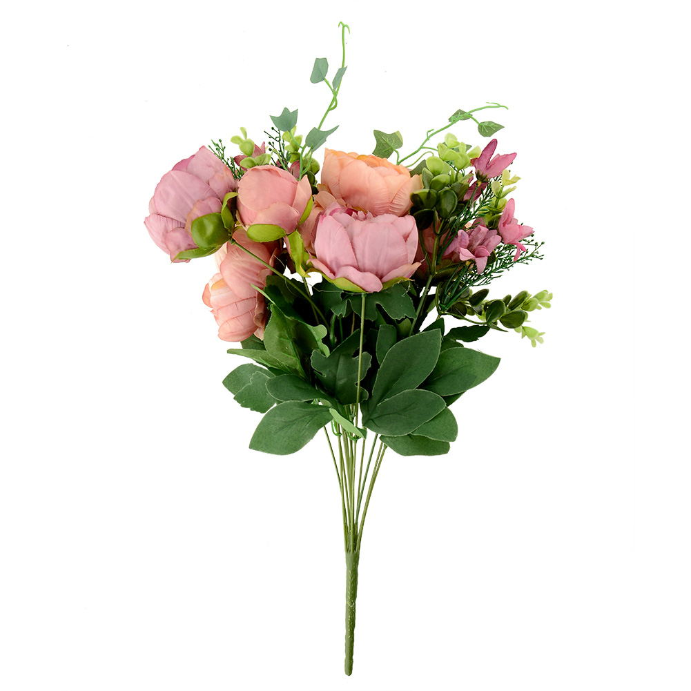 Artificial fake peony silk flowers bridal hydrangea home for Artificial flowers decoration for home