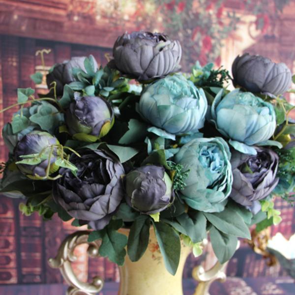 Flowers collection on ebay artificial peony silk 12 heads flowers bridal bouquet hydrangea wedding decor mightylinksfo