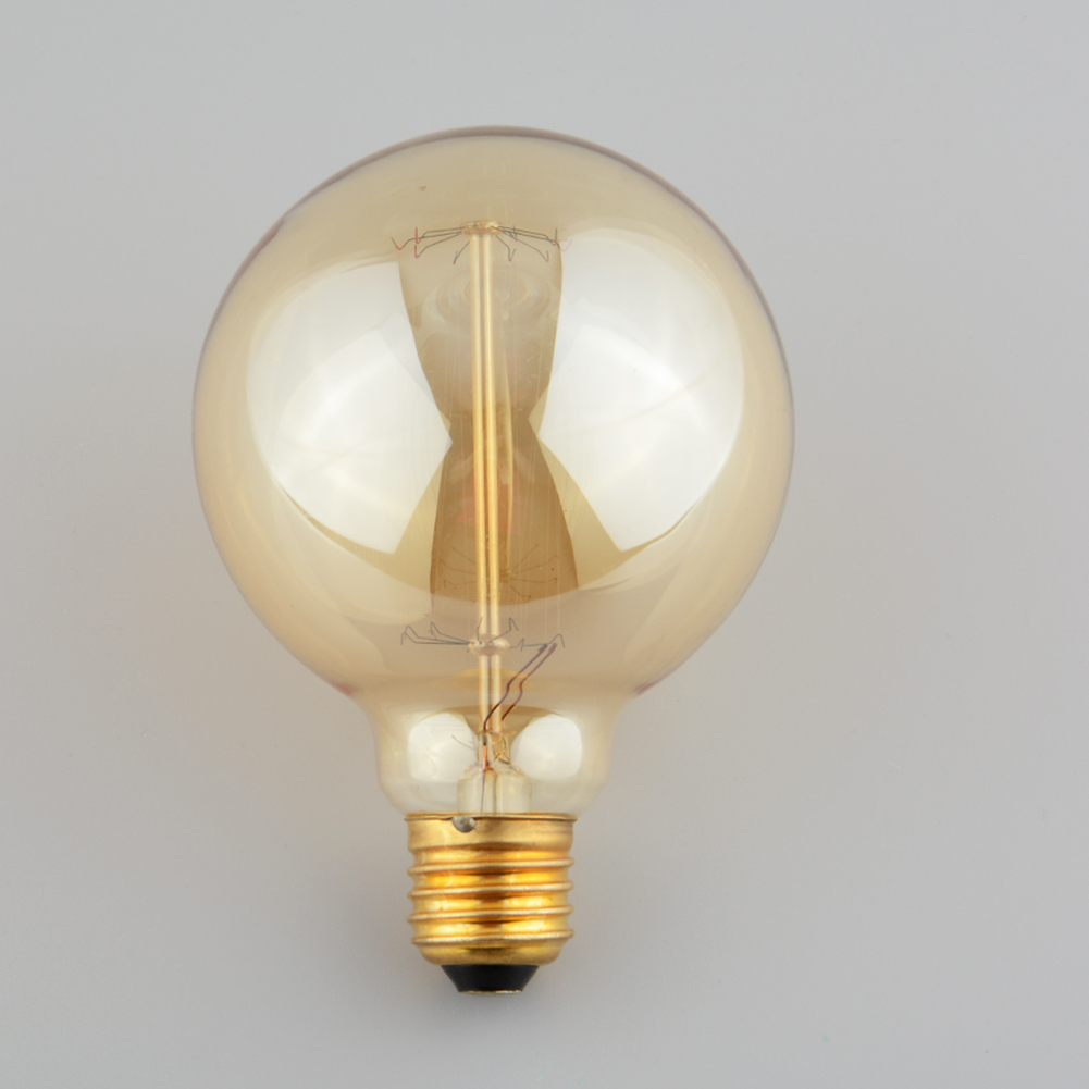 Vintage tungsten filament e27 globe edison light clear bulb lamp 40w 220v ebay Tungsten light bulbs