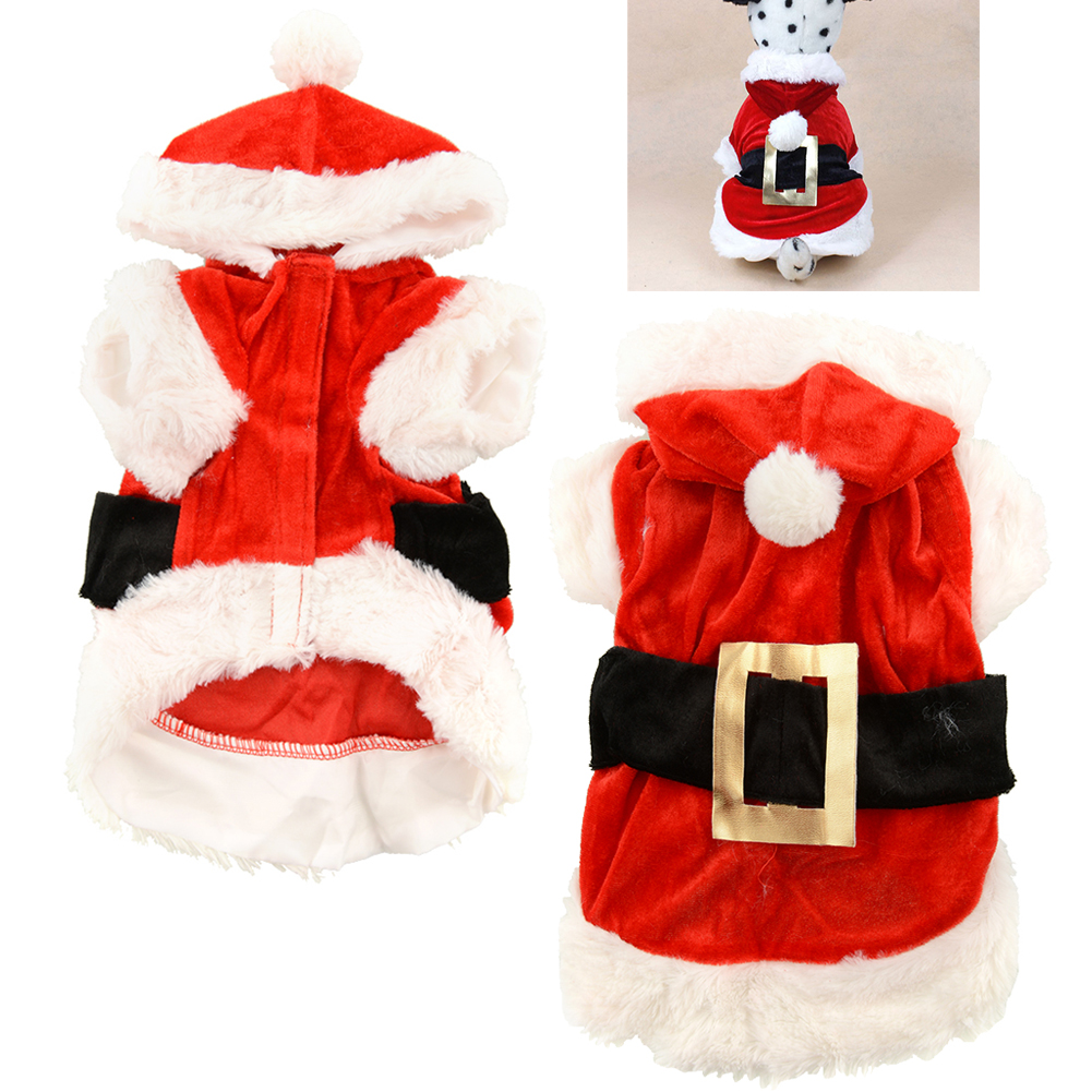 New pet puppy dog dress christmas clothes costume coat apparel hoodie