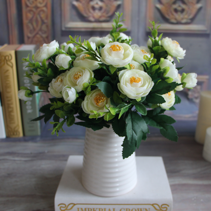 6 Branches Artificial Fake Peony Flower Arrangement Home Hotel Room Decoration Ebay