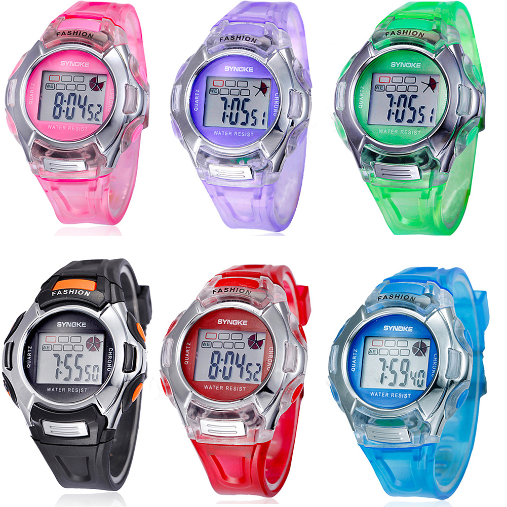 durable pink digital electronic wrist for children