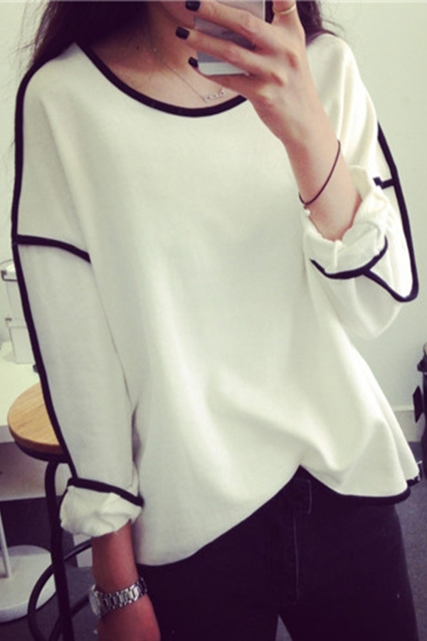 Fashion Womens Loose Casual Tops T-shirt Swing Blouse Jumper Sweater Loose Top