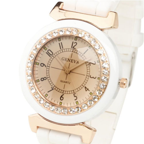 Womens-Rhinestone-Silicone-Rubber-Strap-Band-Analog-Quartz-Wrist-Watch