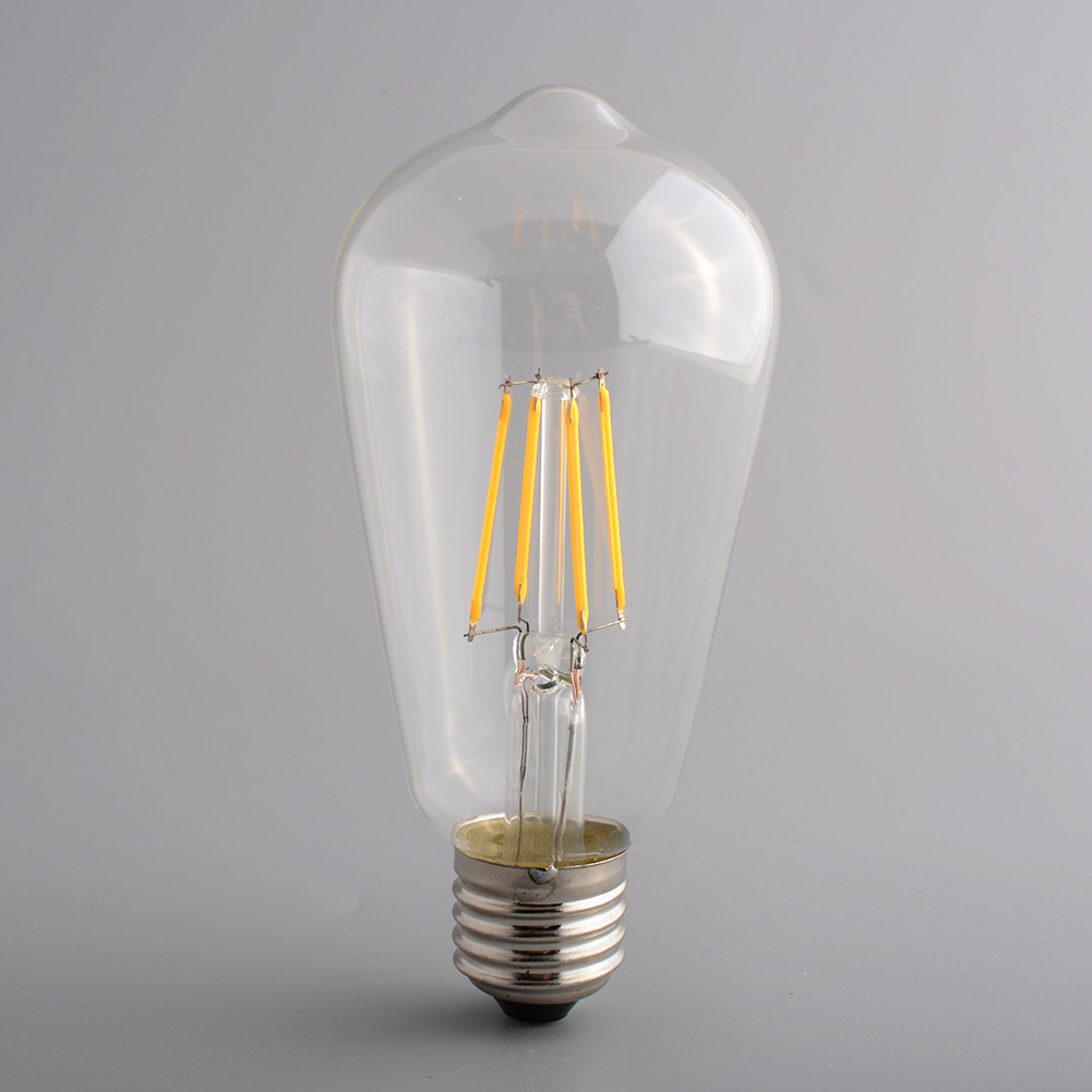 vintage retro edison e27 bright led filament home light lamp bulb st64. Black Bedroom Furniture Sets. Home Design Ideas