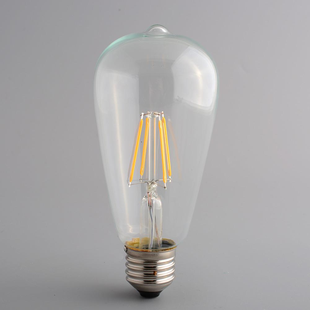 Bright Led Bulb: Vintage Retro Edison E27 Bright 110V Screw LED Filament