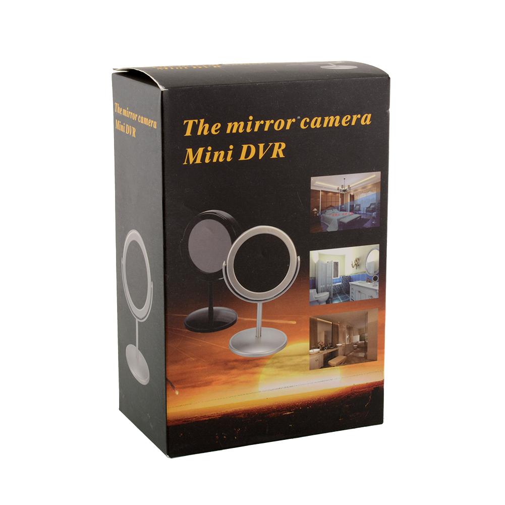 Black home mirror spy hidden camera recorder camcorder dv for Table th hidden