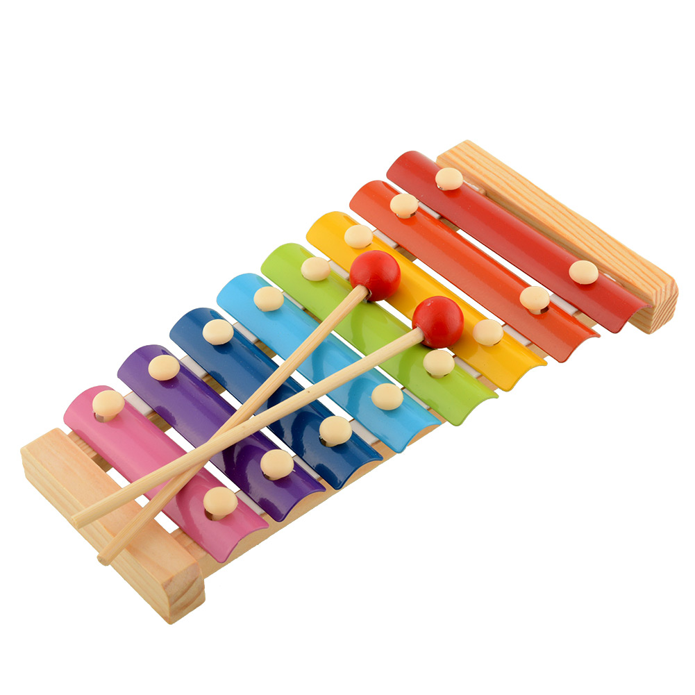 Baby Kid Child 8 tone Xylophone Musical Toys Gift Wisdom Development Wooden | eBay