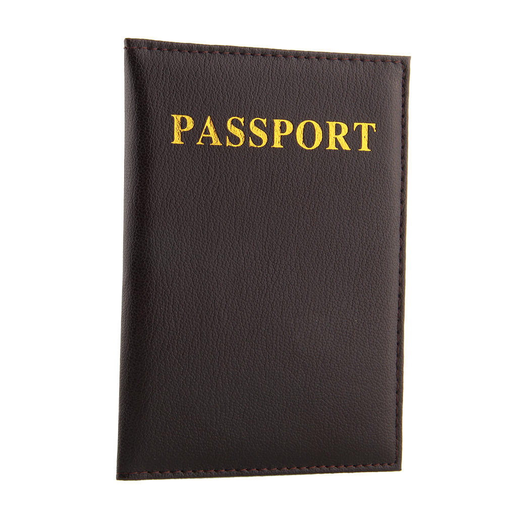 Passport Holder Protector Cover Wallet Pu Leather