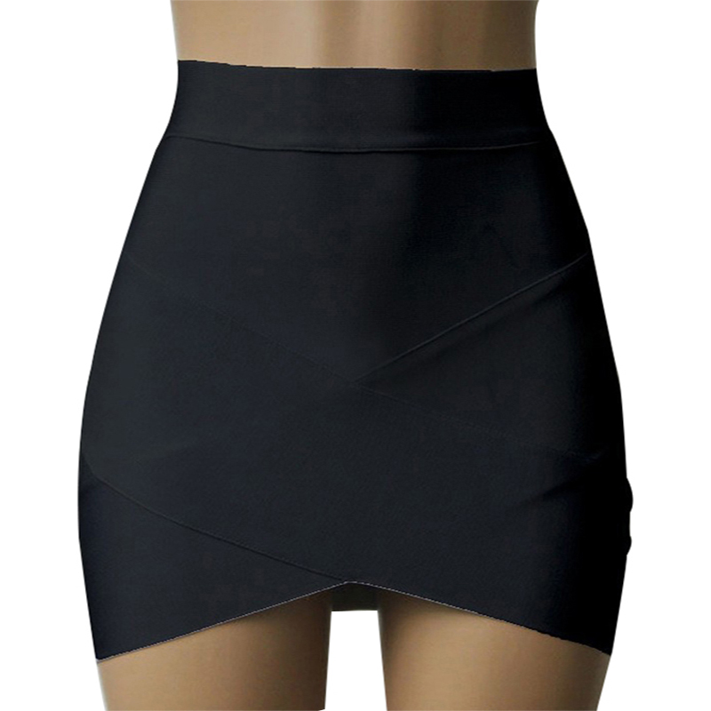 New Women Sexy Casual Fit Slim Bodycon Pencil Cocktail Cross Mini Short Skirt