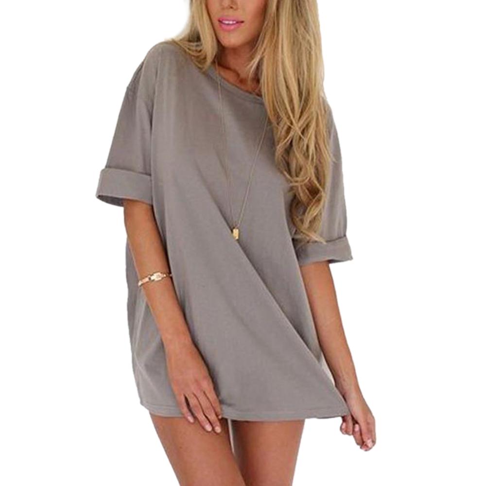 Summer women evening chiffon casual top half sleeve mini for Best full sleeve t shirts