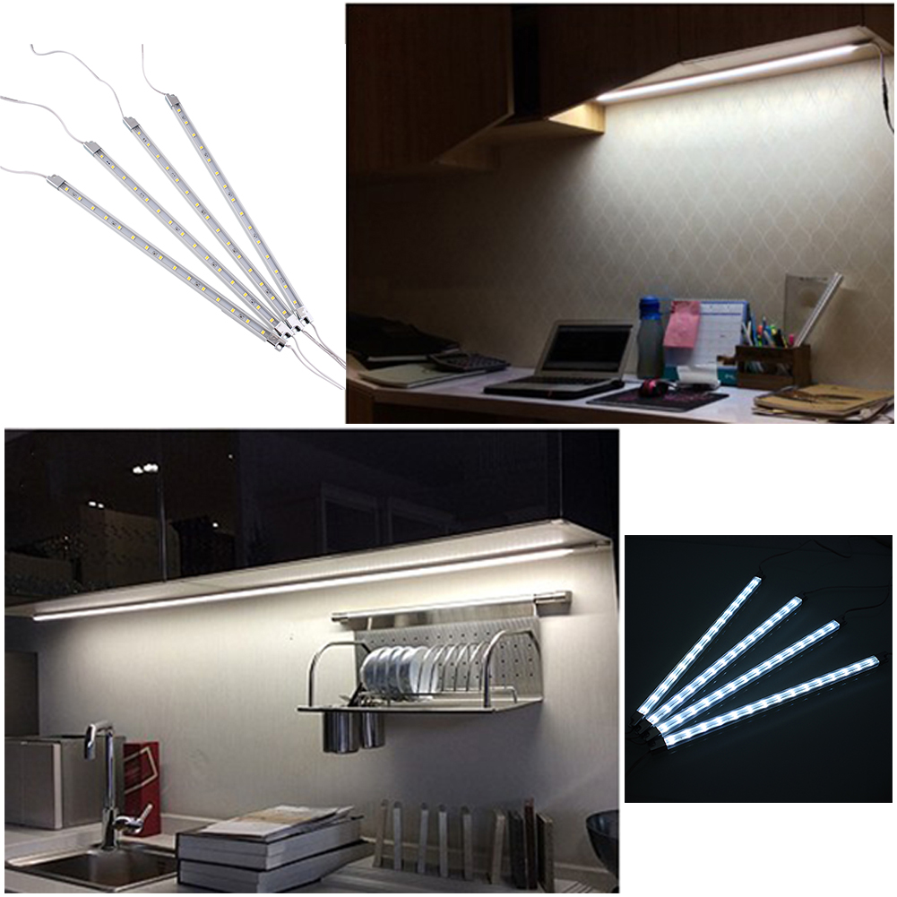 Kitchen Under Cabinet Strip Lighting: 4Pcs Kitchen Home Under Cabinet 15 LED Efficient Light Bar