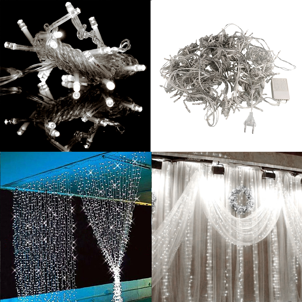 3mx3m 300 Led String Wedding Curtain Light Gorgeous 220v Garden Room Decor Ebay