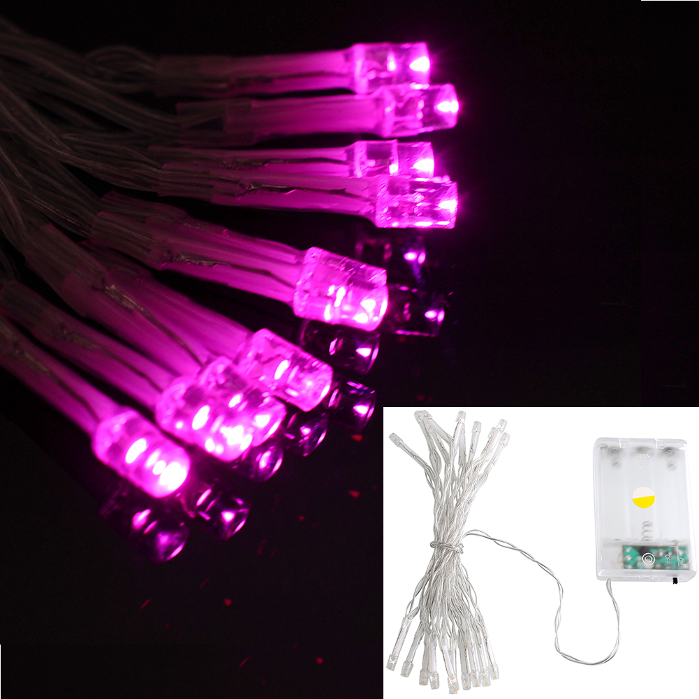 Led Party String Lights : 2M 20 LED Battery Powerd Bright Fairy String Light Party Garden Decor Lamp eBay