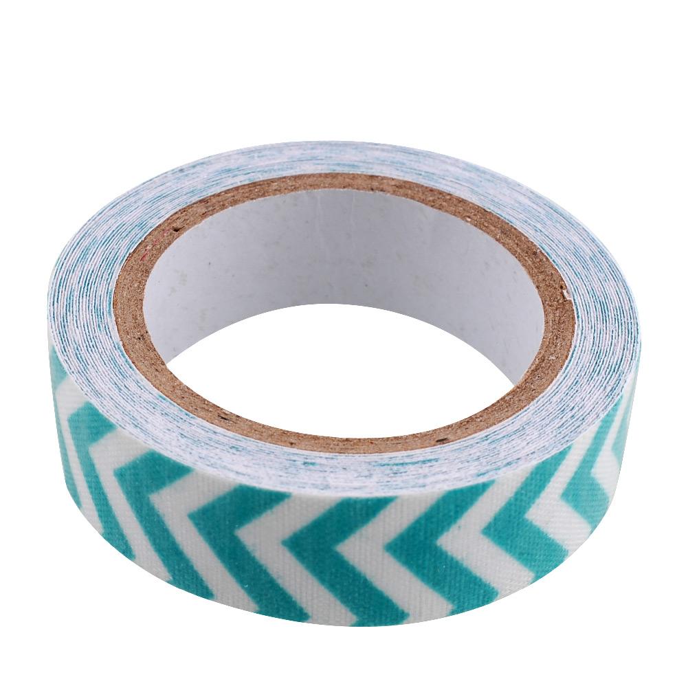 Stripe Washi Rolls Tape 15mm Roll Adhesive Gift Scrapbooking Glue Tape Stickers