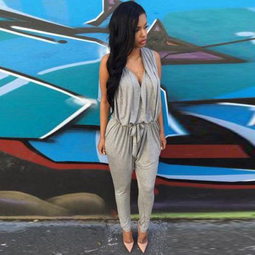 Women Summer Sexy Fashion Pants Trousers Jumpsuit Playsuit Long Full Romper