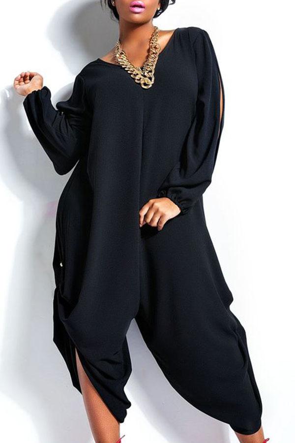 Summer Womens Long TROUSER Romper Loose Jumpsuit Plus Size ...