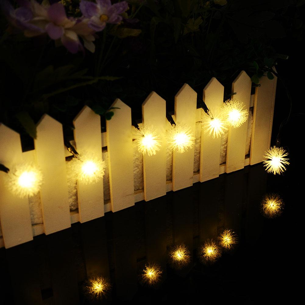 Solar 5m 20 LED Firefly Chuzzle Ball Home Xmas Tree Decor String Light