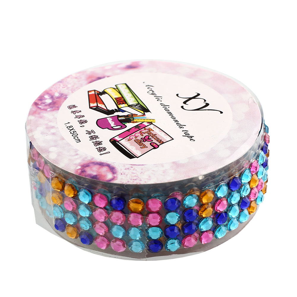 Self adhesive acrylic rhinestones stick scrapbooking craft for Stick on gems for crafts