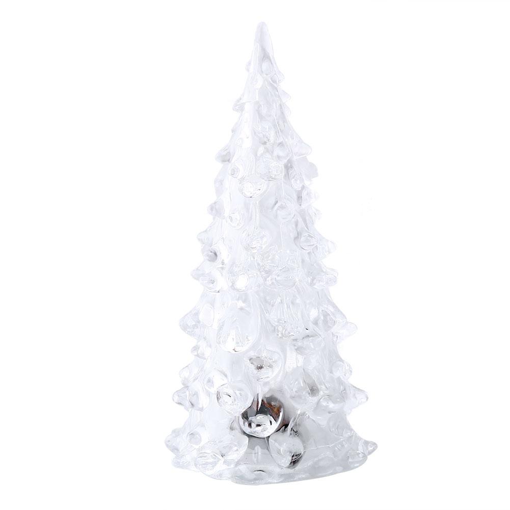 Crystal christmas tree led lamp light mini ornaments for Christmas tree light lamps