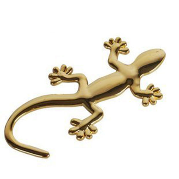 3d Alloy Gecko Car Stickers Auto Decal Exterior Accessories Sliver Gold Ebay