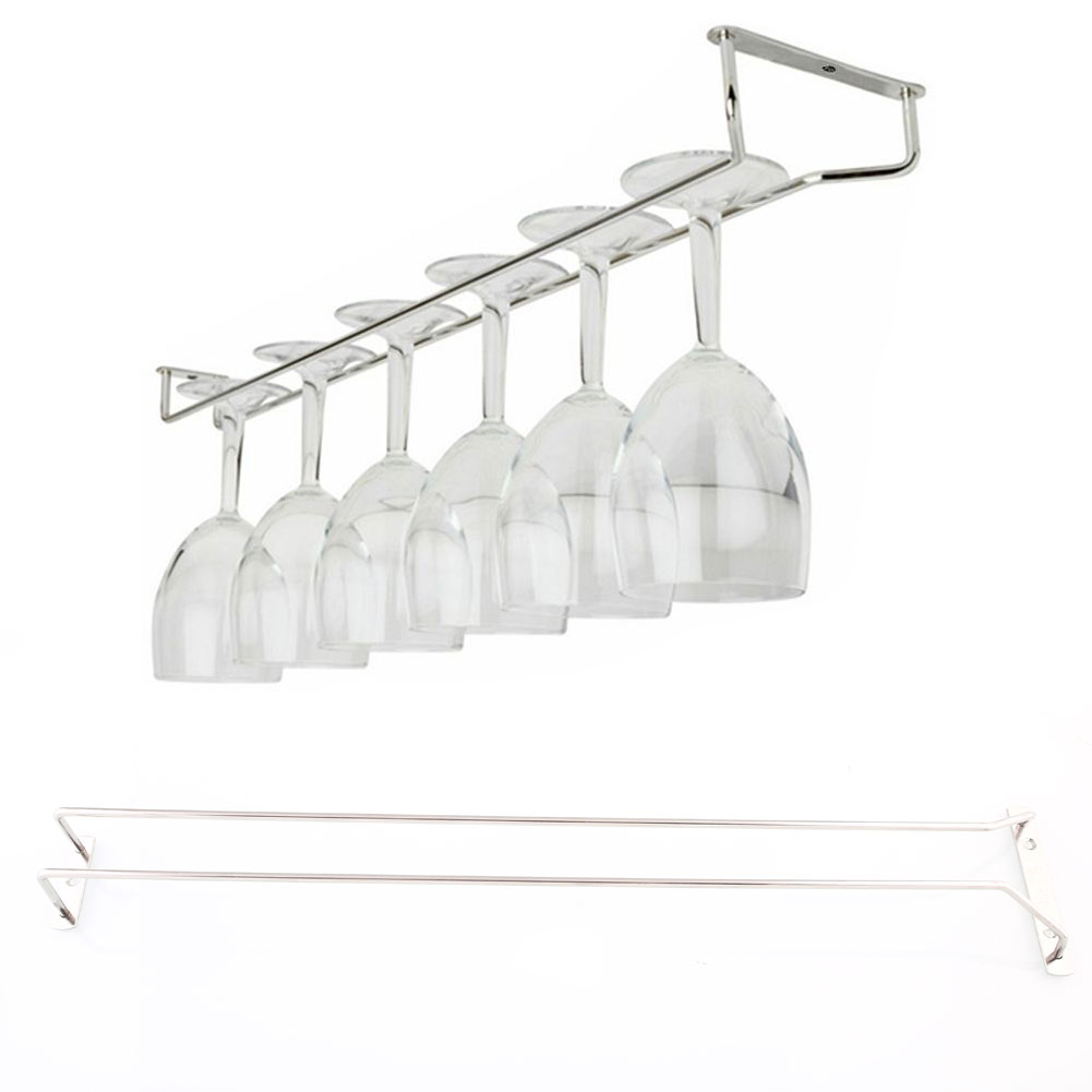 Ikea Drehstuhl Skruvsta Weiß ~   Wine Glass Rack Under Cabinet Hanging Stemware Holder Hanger Shelf Bar