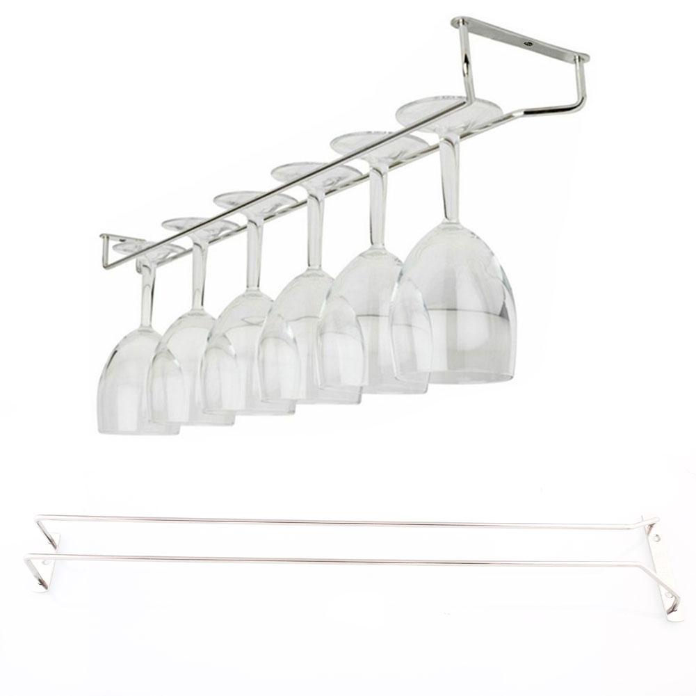 55cm 21 wine glass rack under cabinet hanging stemware. Black Bedroom Furniture Sets. Home Design Ideas
