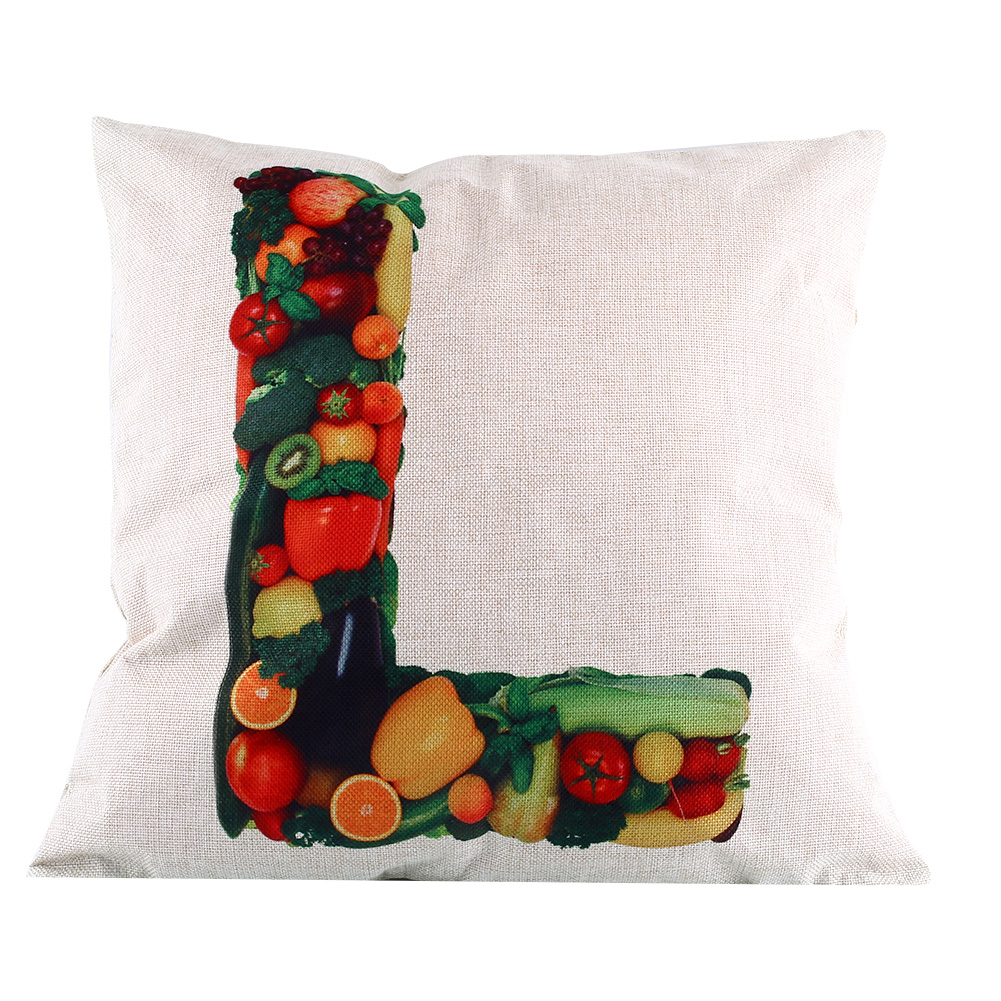 Throw Pillows With Letters On Them : Cotton Letters Owl Linen Pillow Case Sofa Waist Throw Cushion Home Decor eBay