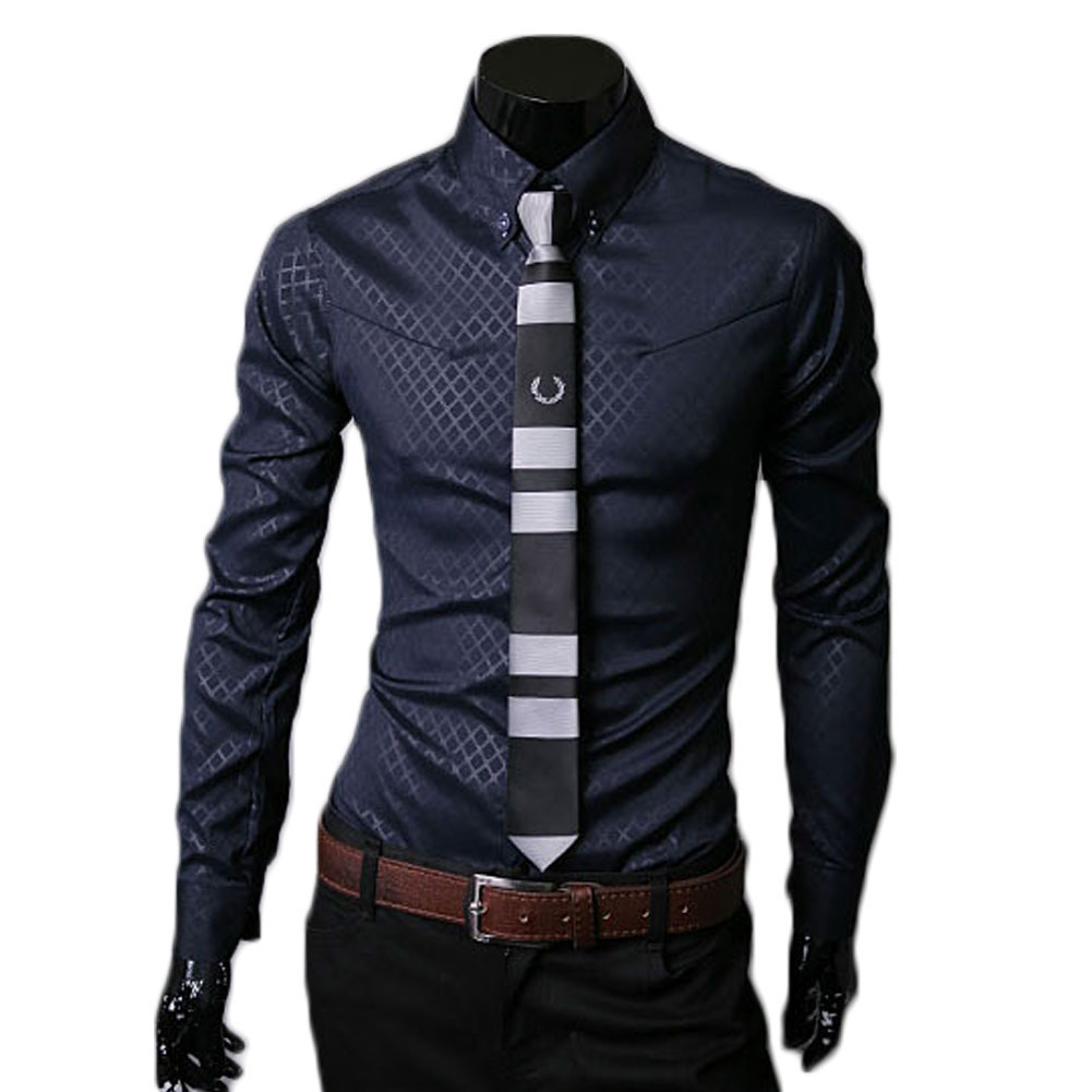 Men button down stand collar top blouse casual fashion for Top mens button down shirts