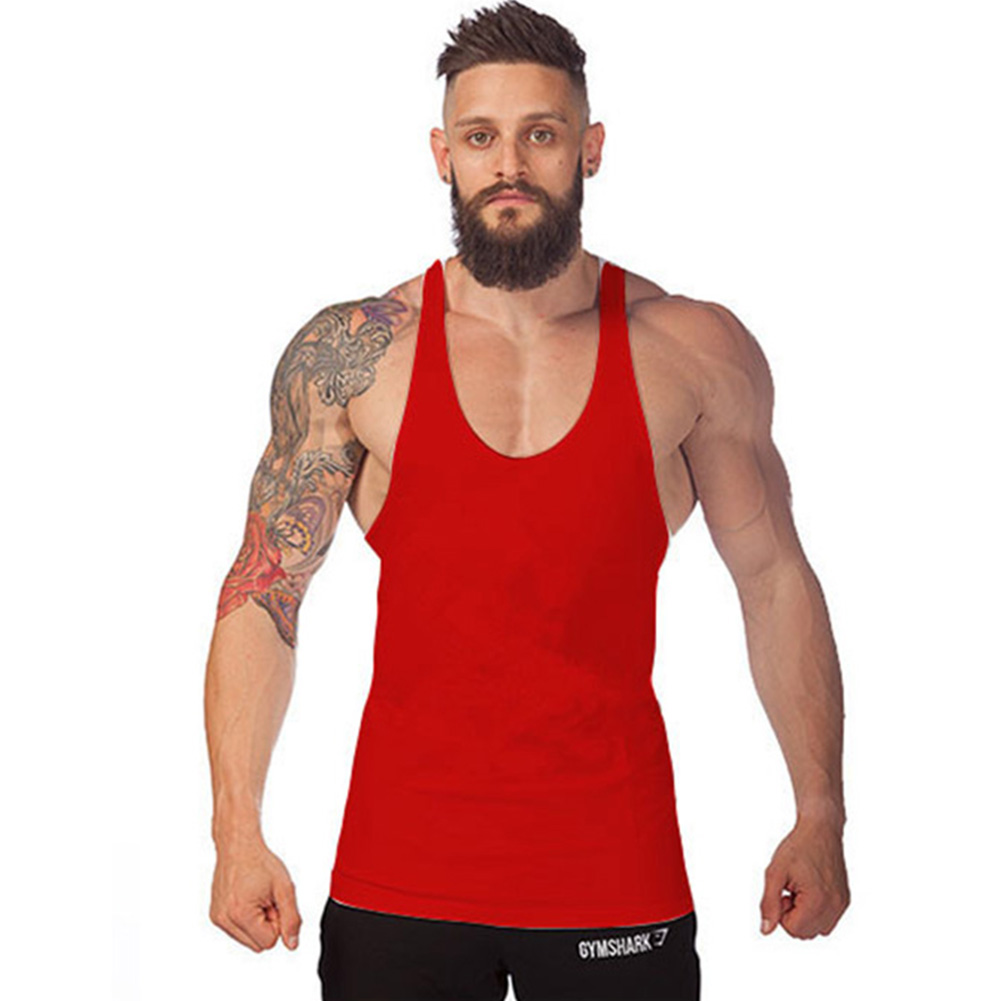 Men sport fitness gym sleeveless vest blouse tee t shirt for Best fitness t shirts
