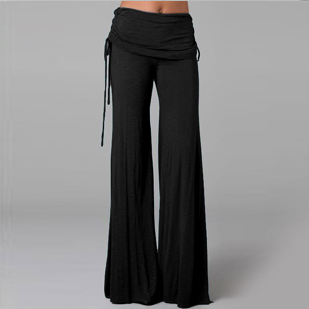 Women's Solid Color Stretchy High Waist Wide Leg Front Button-Down Long Pants. sullcom Women Summer Solid Sleeveless Wide Leg Jumpsuit Casual Spaghetti Strap Stretchy Long Pant Rompers. by sullcom. $ $ 22 99 Prime. FREE Shipping on eligible orders. Some sizes/colors are Prime eligible.