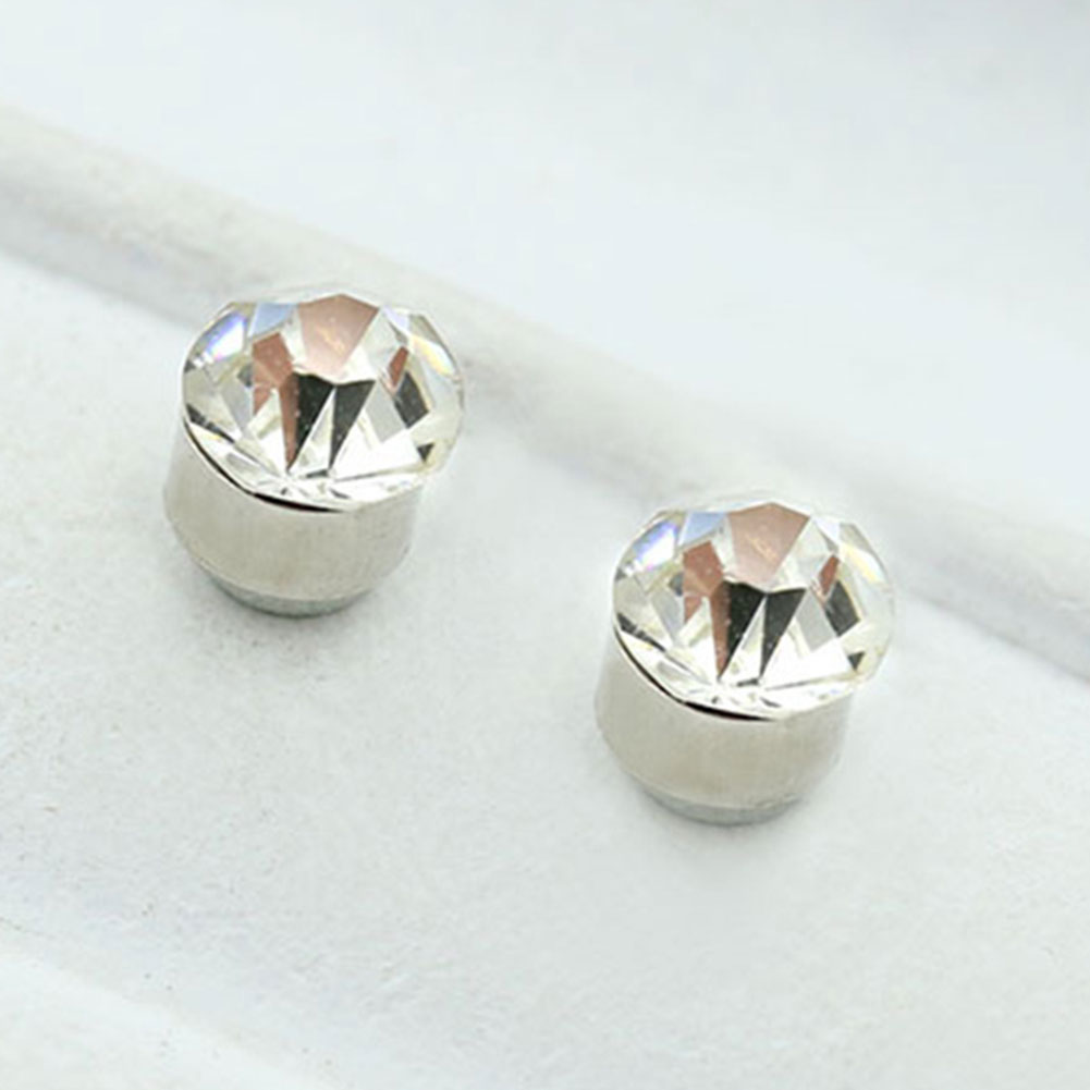 Chic Fashion 5mm Diamond Non Piercing Clip On Magnetic Ear Stud Earrings  Gift