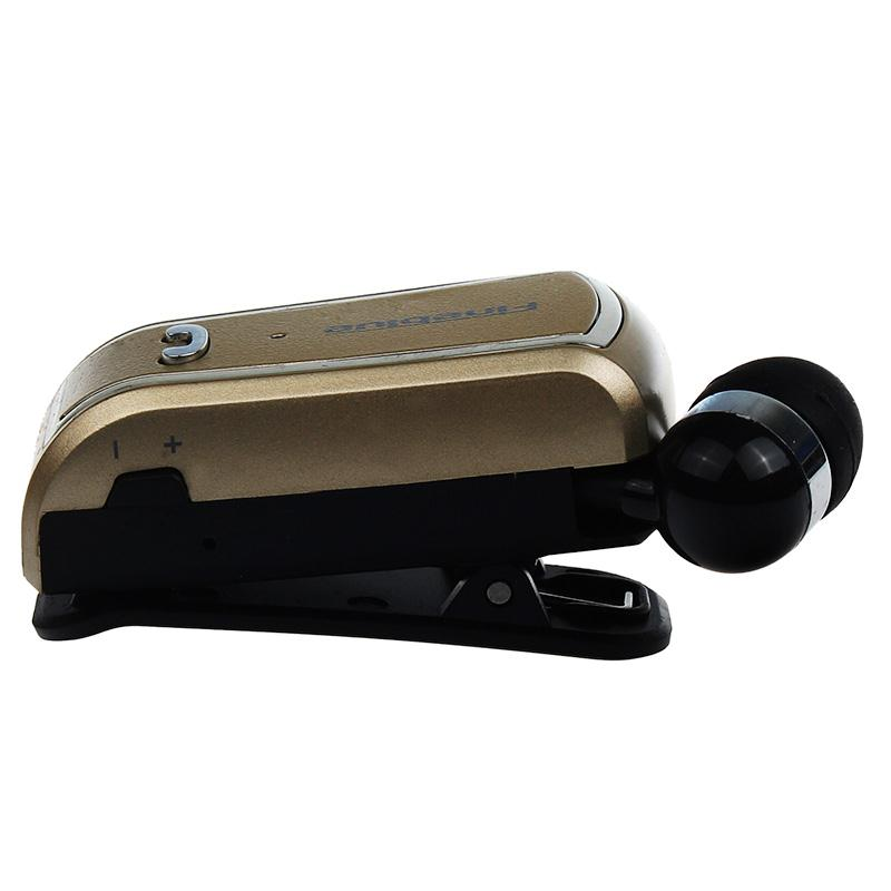 wireless bluetooth 4 0 stereo headset retractable clip on. Black Bedroom Furniture Sets. Home Design Ideas