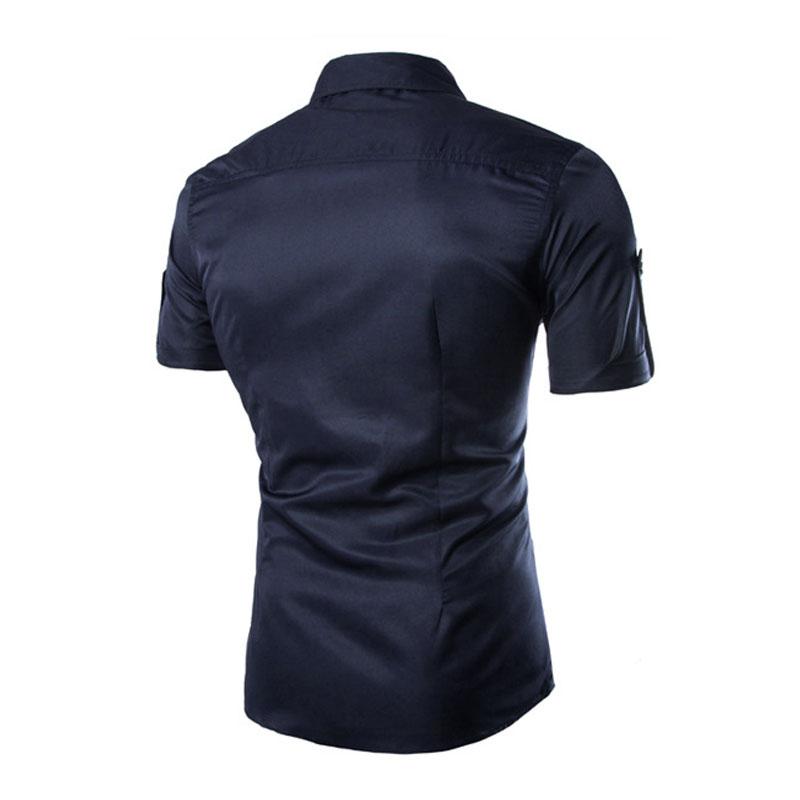 Men 39 s pockets button down short sleeve top blouse pullover for Best short sleeve button down shirts reddit