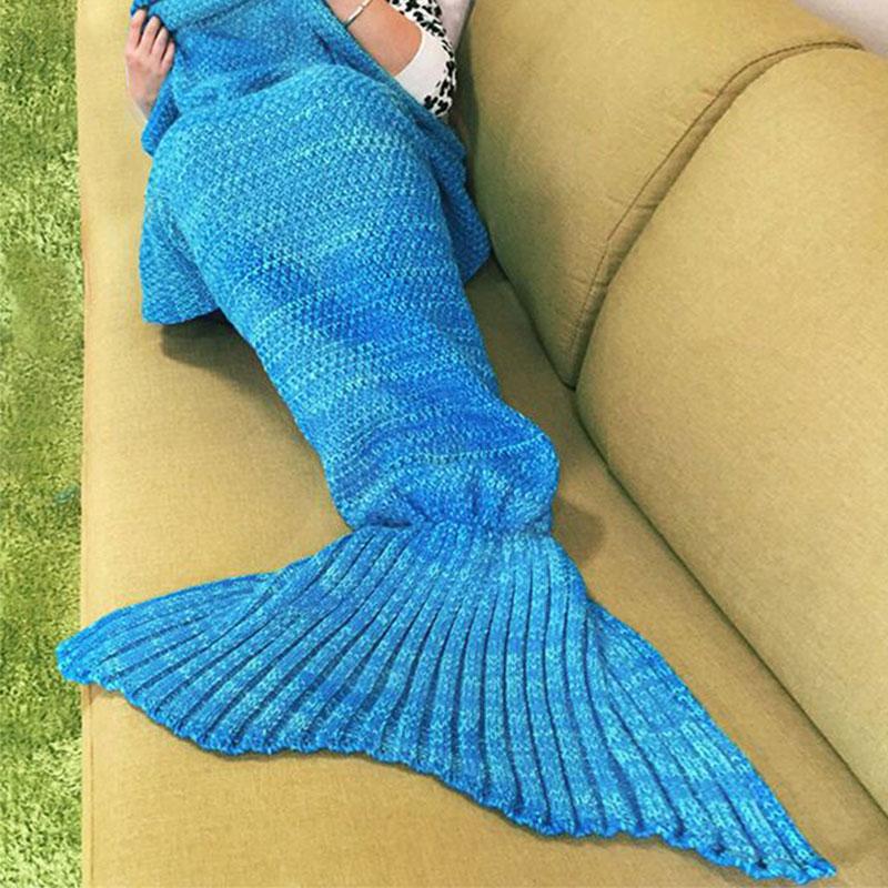 Women-Knitted-Crochet-Sofa-Wrap-Cos-Costumes-Mermaid-Tail-Quilt-Soogan-Blanket