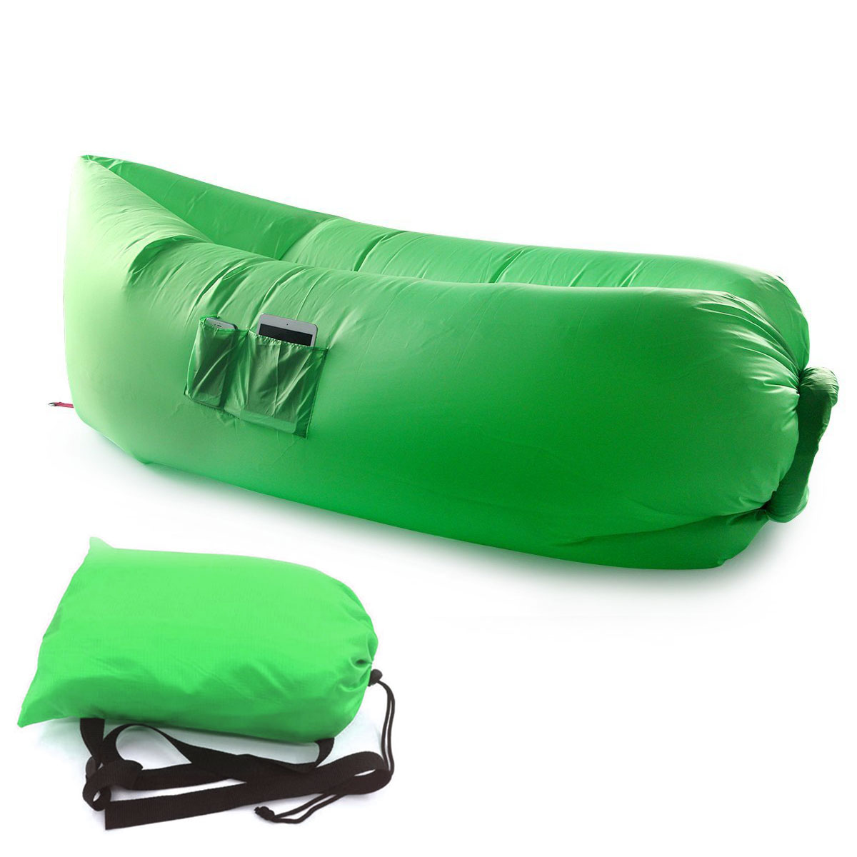 Air Sleeping Bag : Inflatable hangout lounge chair air sofa bag outdoor
